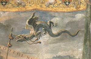 Ular Naga terbang lukisan Raffaello di Vatikan, Roma