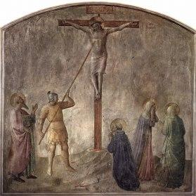 Lukisan Yeshua tersalib tentara Romawi menusuk lambung-Nya